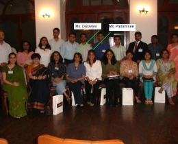 As lecturer for The Edge Academy for Corporate Grooming, and seated next to Director Ms. Rael Padamsee